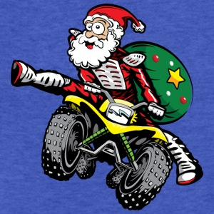 ATV Santa Claus Sweatshirts - Fitted Cotton/Poly T-Shirt by Next Level