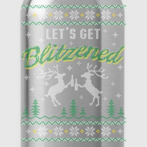 UGLY HOLIDAY SWEATER LET'S GET BLITZENED Women's T-Shirts - Water Bottle