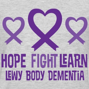 Lewy Body Dementia Heart Ribbon Hope Women's T-Shirts - Men's Premium Long Sleeve T-Shirt