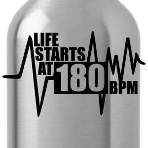 Life starts at 180 BPM Tanks - Water Bottle