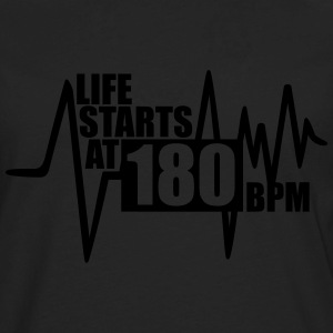 Life starts at 180 BPM Tanks - Men's Premium Long Sleeve T-Shirt