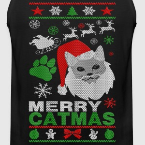Merry Catmas Ugly Christmast Shirts Kids' Shirts - Men's Premium Tank