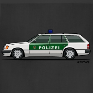 Mercedes Benz W124 300TE German Police Autobahn Women's T-Shirts - Adjustable Apron