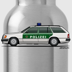 Mercedes Benz W124 300TE German Police Autobahn Women's T-Shirts - Water Bottle