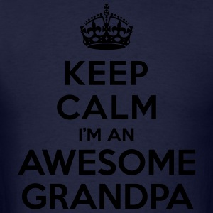 Keep calm Awesome Grandpa Hoodies - Men's T-Shirt