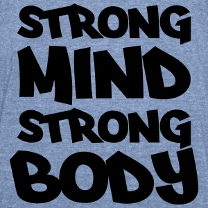 Strong mind, strong body Long Sleeve Shirts - Unisex Tri-Blend T-Shirt by American Apparel