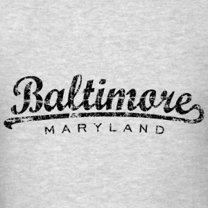 Baltimore, Maryland Classic Hoodie (Men/Gray) - Men's T-Shirt