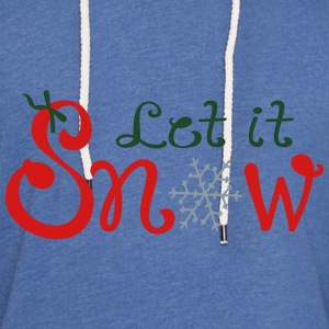 LET IT SNOW X-MAS Women's Wideneck Sweatshirt - Unisex Lightweight Terry Hoodie