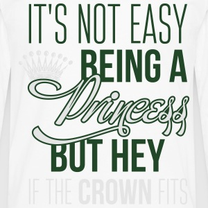 It's not easy being a princess Baby Bodysuits - Men's Premium Long Sleeve T-Shirt