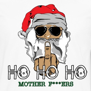 Santa Giving Finger - Men's Premium Long Sleeve T-Shirt