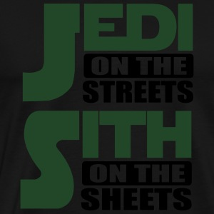 Jedi on the streets, sith on the sheets Tank Tops - Men's Premium T-Shirt