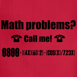 Math problems? Call me! Tanks - Adjustable Apron