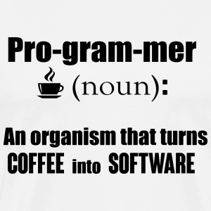 Programmer: turns coffee into software Tank Tops - Men's Premium T-Shirt