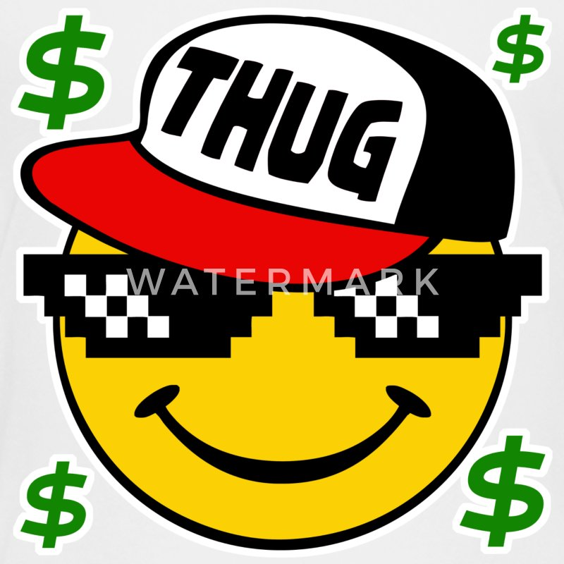 Thug Smiley Thug Emoticon Thug Life - Kids' Premium T-Shirt
