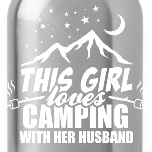 This Girl Loves Camping With Her Husband Women's T-Shirts - Water Bottle