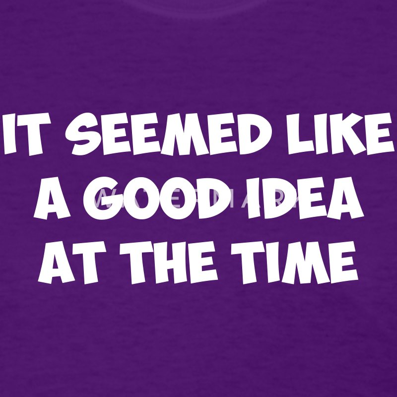 It seemed like a good idea at the time - Women's T-Shirt