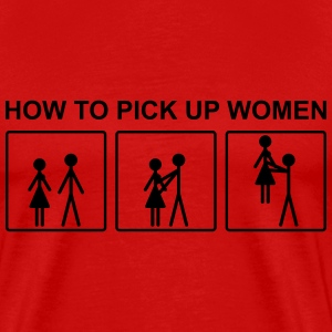 How to pick up women - Men's Premium T-Shirt