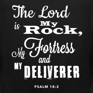 Psalm 18:2 - Men's Hoodie - Men's Premium Tank