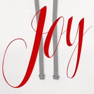 Joy in Red Typography - Contrast Hoodie