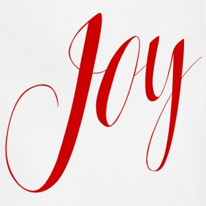 Joy in Red Typography - Adjustable Apron