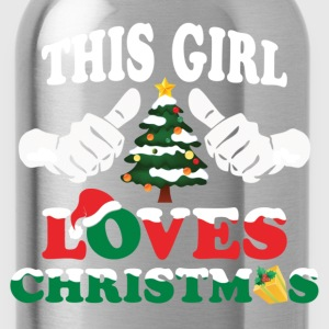 This Girl Loves Christmas Long Sleeve Shirts - Water Bottle