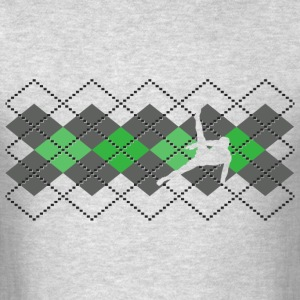Argyle Gymnast Sweater Long Sleeve Shirts - Men's T-Shirt