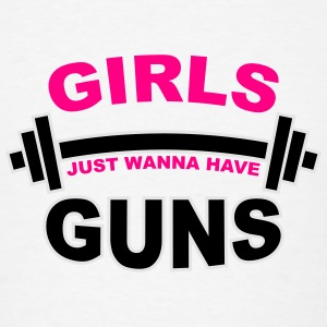 Girls Just Wanna Have Guns Gym Tanks - Men's T-Shirt