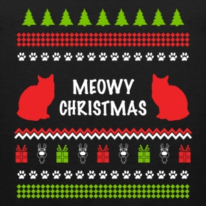 Meowy Christmas Funny Ugly Sweater For Cat Lovers Hoodies - Men's Premium Tank