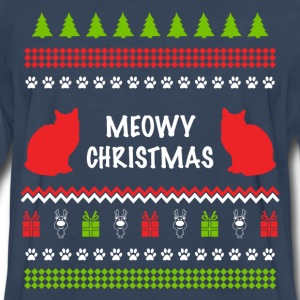 Meowy Christmas Funny Ugly Sweater For Cat Lovers Women's T-Shirts - Men's Premium Long Sleeve T-Shirt