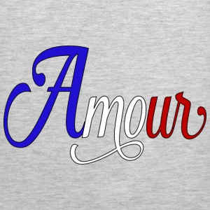 amour  - love in french Hoodies - Men's Premium Tank