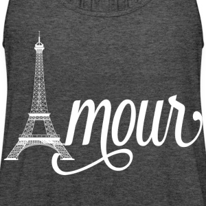 amour paris - love in french T-Shirts - Women's Flowy Tank Top by Bella