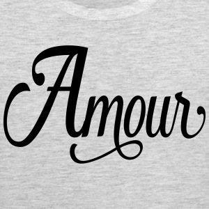 amour - love in french Kids' Shirts - Men's Premium Tank