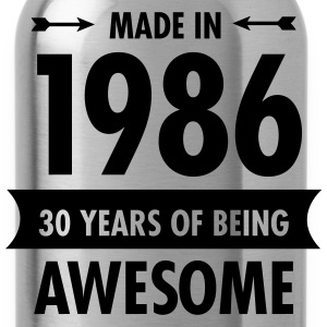 Made In 1986 - 30 Years Of Being Awesome Women's T-Shirts - Water Bottle