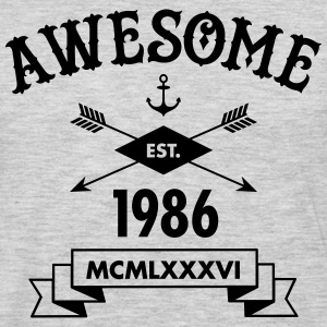 Awesome Est. 1986 T-Shirts - Men's Premium Long Sleeve T-Shirt