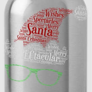 SPECtacular Santa with fashion specs patjila2 Kids' Shirts - Water Bottle
