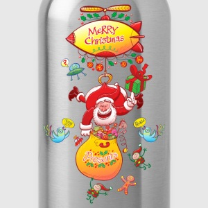 Santa has a Zeppelin to Deliver Xmas Gifts Women's - Water Bottle
