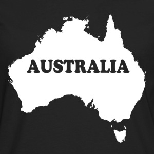 Australia Map T-Shirts - Men's Premium Long Sleeve T-Shirt
