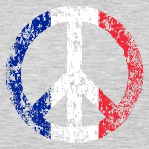 Vintage France Flag Peace Sign T-shirt - Men's Premium Long Sleeve T-Shirt