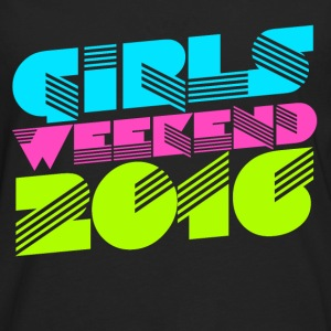 Retro Girl's Weekend 2016 bachelorette party  - Men's Premium Long Sleeve T-Shirt