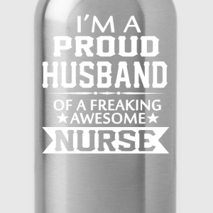 I'M A PROUD NURSE'S HUSBAND - Water Bottle