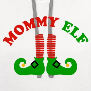 Mommy Elf Women's T-Shirts - Contrast Hoodie