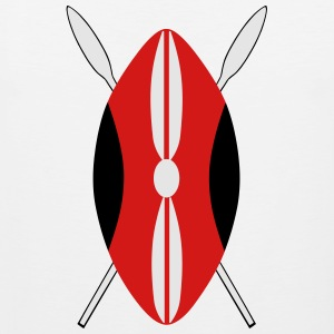 Kenyan Maasia Shield T-Shirts - Men's Premium Tank