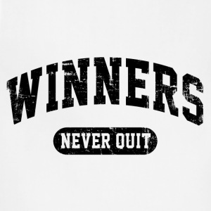Winners Never Quit T-Shirts - Adjustable Apron