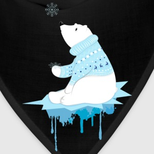 Polar bear with snowflakes Sweatshirts - Bandana