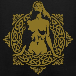 Naked girl on the of the celtic patterns Hoodies - Men's Premium Tank