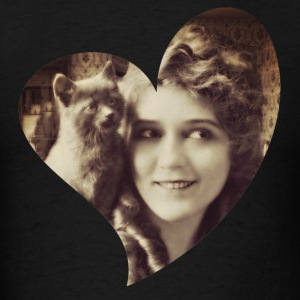 Mary Pickford - Vintage Lady with kitten - Vintage - Men's T-Shirt