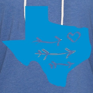 Texas Love - Unisex Lightweight Terry Hoodie