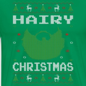 Hairy Christmas Beard Hoodies - Men's Premium T-Shirt