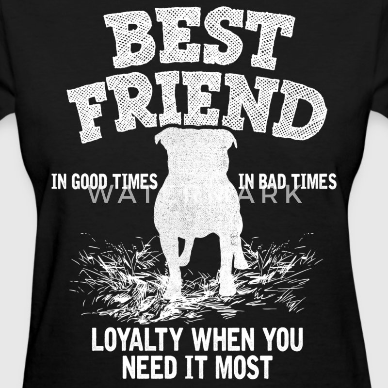 Pitbull - Best Friend, Loyalty When You Need It  Women's T-Shirts - Women's T-Shirt