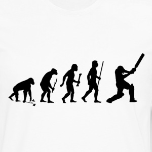 Evolution of Man and Cricket - Men's Premium Long Sleeve T-Shirt